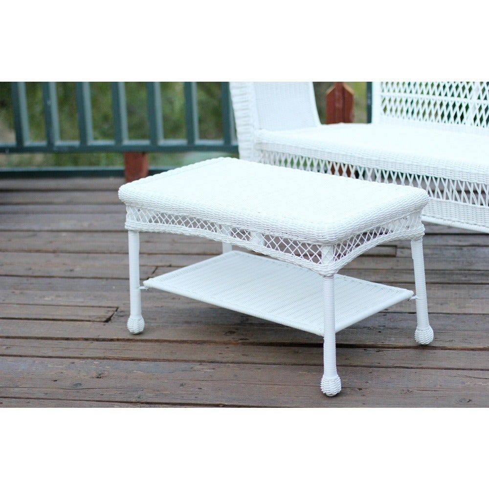 Wicker Patio Coffee Table Outdoor Patio Gardendesign White Ebay