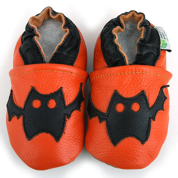 Halloween Bat Leather Baby Shoes