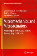 Micromechanics and Microactuators: Proceedings of MAMM 2010, Aachen, Germany, May 27-29, 2010 (Hardcover)