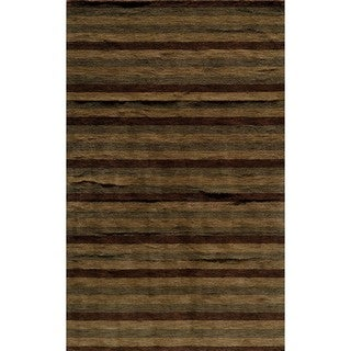 Hand-tufted Manhattan Stripe Wool Rug (2'3 x 3'9)