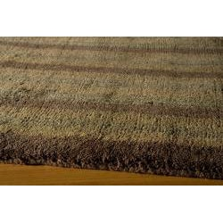 Hand-tufted Manhattan Stripes Wool Rug (8 x 11)