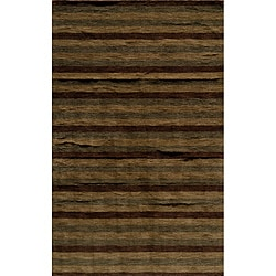 Hand-tufted Manhattan Stripes Wool Rug (8 x 11)