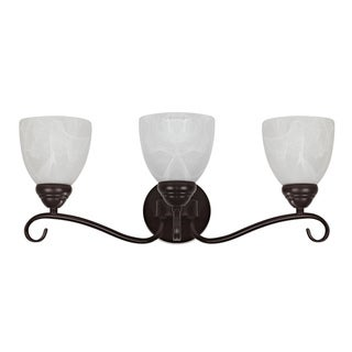 Transitional 3-light Dark Rubbed Bronze Bath Bar