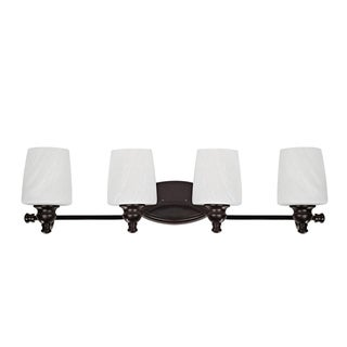 Transitional 4-light Dark Rubbed Bronze Bath Bar