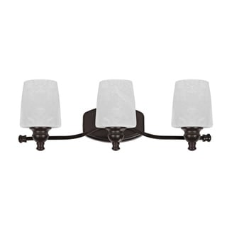 Versatile Transitional Three-light Dark Rubbed-Bronze Bath Bar