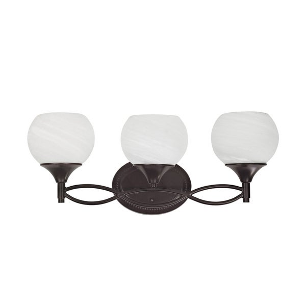 Chloe Transitional 3-light Dark Rubbed Bronze Bath/ Vanity Light