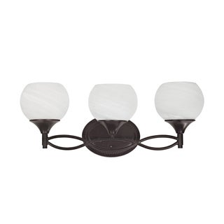 Indoor Transitional Three-light Dark Rubbed-Bronze Bath Bar