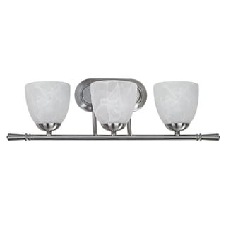 Transitional 3-light Brushed Nickel Bath Bar