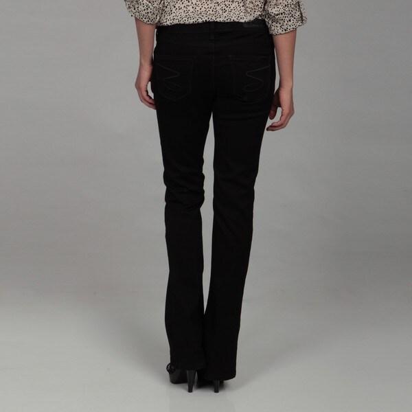 Seven7 Women's Stretch Sateen Rocker Slim Jeans