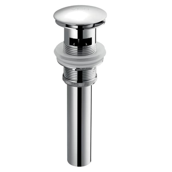 VIGO Pop-up Drain with Overflow Chrome Finish
