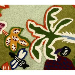 nuLOOM Handmade Kids Jungle New Zealand Wool Rug (3'6 x 5'6)