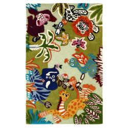 nuLOOM Handmade Kids Jungle New Zealand Wool Rug (3'6 x 5'6)