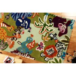 nuLOOM Handmade Kids Jungle New Zealand Wool Rug (5' x 8')