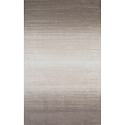 Hand-tufted Manhattan Ombre Taupe Wool Rug (8 x 11)