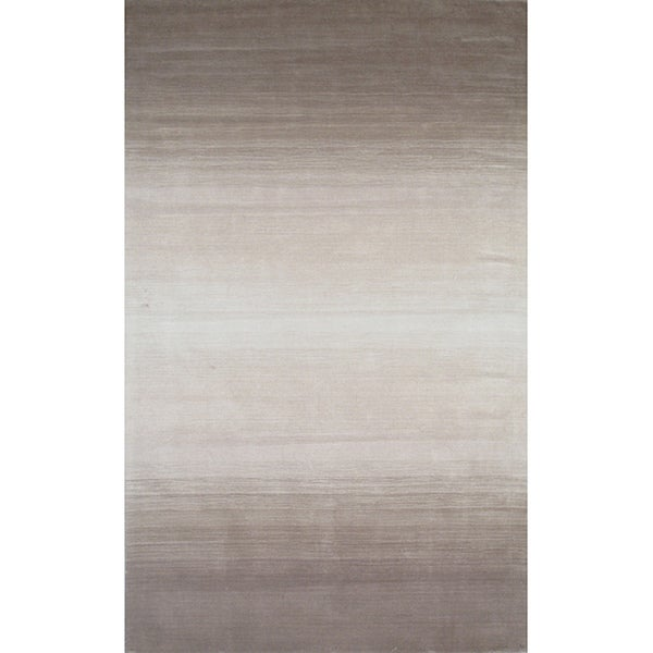 Manhattan Ombre Taupe Hand-Loomed Wool Rug (8 x 11)