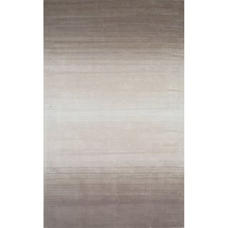 Manhattan Ombre Taupe Hand-Loomed Wool Rug (3'3 x 5'3)