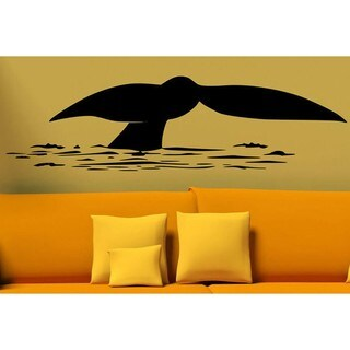 Whale Tail Wall Decor Vinyl Decal
