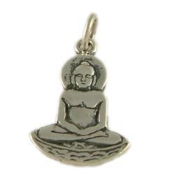 Sterling Silver Buddha Pendant (Thailand)