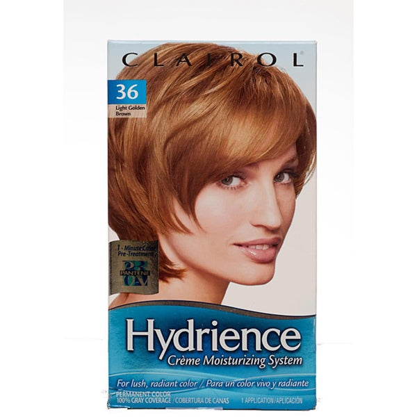 Hydrience Light Golden Brown by Clairol Creme Moisturizing System (Pack of 4)