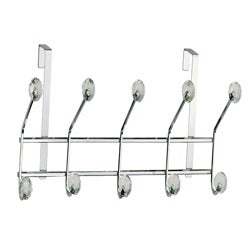 Over-the-door Chrome 10 Acrylic Jewel Ball Hooks