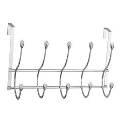Over-the-door 10 Clear Acrylic Embedded Jewel Hooks