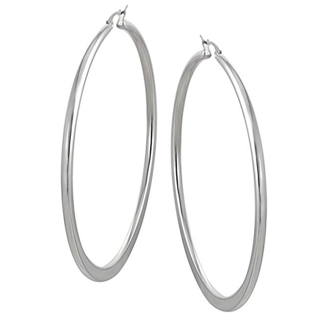 Stainless Steel Polished 65mm Hoop Earrings