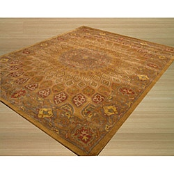 Hand-tufted Wool Gold Gombad Rug