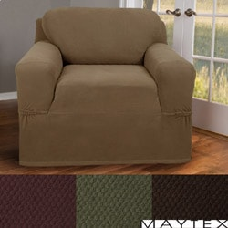 Maytex Stretch Pixel 1-piece Chair Slipcover