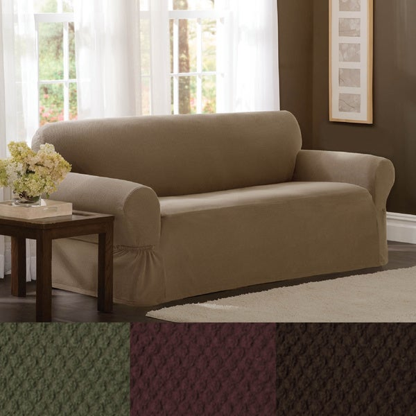 Maytex Stretch Pixel 1-piece Sofa Slipcover