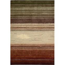 Nourison Hand-tufted Contours Forest Rug (8 x 10'6)