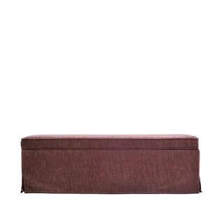Portfolio Blane Brown and Caramel Skirted Wall Hugger Bench Storage Ottoman