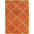 Handmade-tufted World Classic Rust Wool Rug (5 x 8)