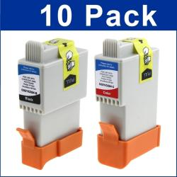 INSTEN Canon IP1500/ BCI-24 Black and Color Ink Cartridges (Pack of 10)