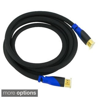 10-foot Fully HDCP Compliant Black and Blue High Speed HDMI M/M Cable