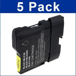 Brother Compatible LC-61/ LC61BK Black Ink Cartridges (Pack of 5)