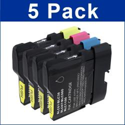 Brother LC-61 Black/ Colored Ink Cartridges (Pack of 5)