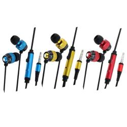 Headphones with Microphone for Apple iPhone 3G/ 3GS/ 4 (Pack of 3)