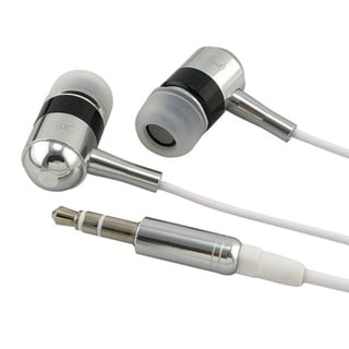 INSTEN Silver Foldable In-ear Headphones for MP3 Players/ Apple iPhone 4S/ 5S/ 6