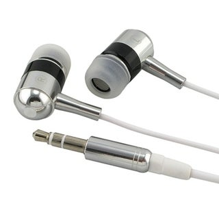 Silver and Black Foldable In-ear Earbud Headphones for MP3 Players