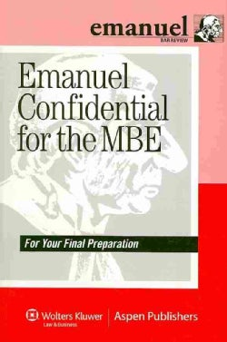 Emanuel Confidential for the MBE: For Your Final Preparation (Paperback)