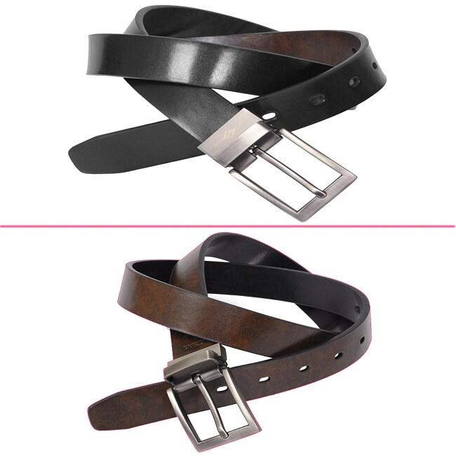 Joseph Abboud Men's Leather Reversible Belt (Size 38)