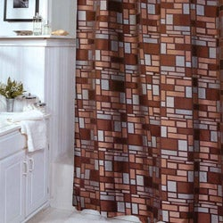 Zen Tiles Pattern Shower Curtain