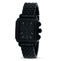 Michele Women's Deco Noir Diamond Black Watch