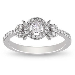 Miadora 14K White Gold 3/8 CT TDW Diamond Ring (G-H, SI1-SI2)
