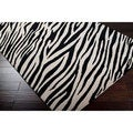 Hand-knotted Zebra Animal Print Augusta Semi-Worsted Wool Rug (8'x11')