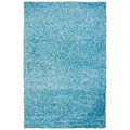 Hand-woven Vivid Soft Shag Rug in Sky Blue (8' 10')