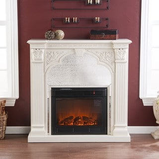 Kidwell Ivory Electric Fireplace