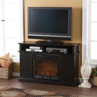 Hensley Black Media Console Fireplace