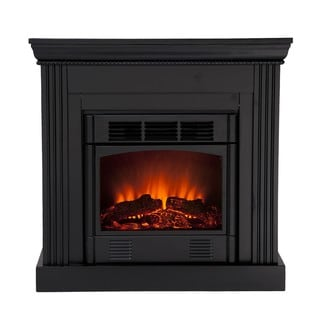 Martel Black Convertible Petite Electric Fireplace