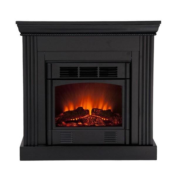 Martel Black Convertible Petite Electric Fireplace